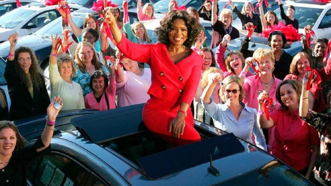 Oprah's car giveaway made television history. Source: Supplied