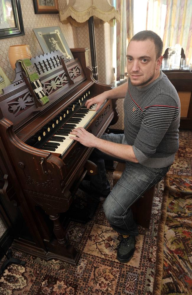No electronic keyboard for Aaron.