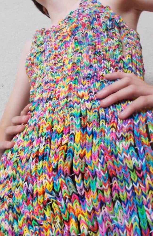 The loom band dress. Picture: eBay