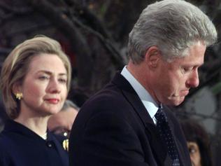 Sure Bill, you didn't have sex with that woman. And pigs fly Picture: AP/Susan Walsh.