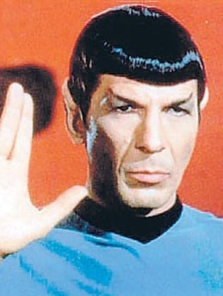 Live long and prosper ... Nimoy based the salutation on a Jewish blessing. Picture: Supplied
