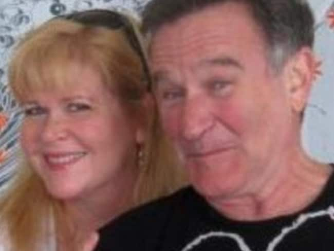 Old friends ... Rebecca Erwin Spencer and Robin Williams. Picture: Rebecca Erwin Spencer/Facebook