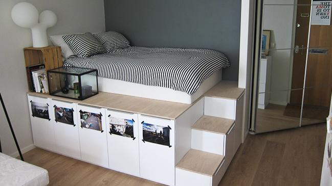 A bedroom suite, hacked to perfection. Pic: IkeaHackers