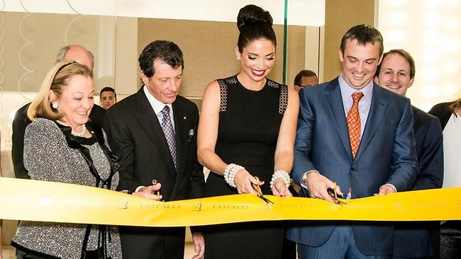 Erica Packer (third left) opens the new Paspaley boutique at Crown. Picture: Supplied