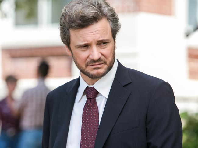Colin Firth plays legal investigator Ronald Lax who believes the wrong people have been charged.