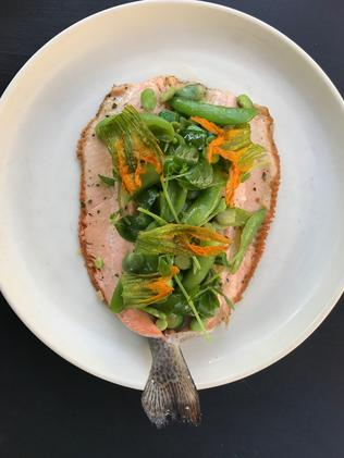 The rainbow trout dish. Picture: Jenifer Jagielski