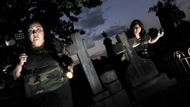 Jeanette Kamper and Jen Van Genderen from Sydney Investigation Ghost Tours have visited Campbelltown's cemetery in the past.