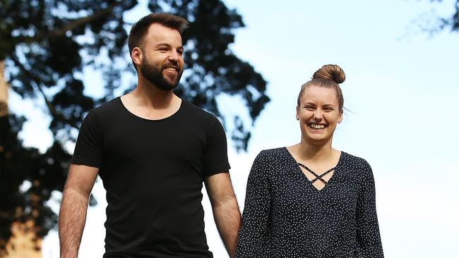 Jemma Crook and Warren August revised their initial wedding budget. Picture: Sam Ruttyn.