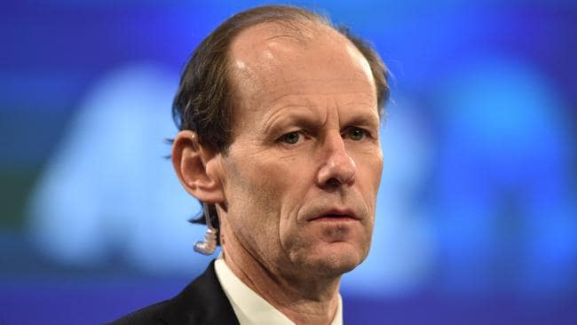 ANZ CEO Shayne Elliott is seen at the company's Annual General Meeting at the Melbourne Convention and Exhibition Centre in Melbourne in Melbourne, Friday, Dec. 16, 2016. (AAP Image/Julian Smith) NO ARCHIVING