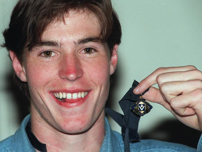 NSW-ACT Rams midfielder Lenny Hayes wins the 1998 Morrish Medal is the best player in the Under-18 competition.