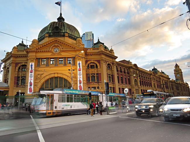 """<b>24. FLINDERS STREET STATION, MELBOURNE: </b>This was the first railway station in an Australian city and the world's busiest passenger station in the late 1920s. The Melburnian saying """"I'll meet you under the clocks"""" refers to the row of clocks above the main entrance. Picture: Jane Wiebenga, NSW"""