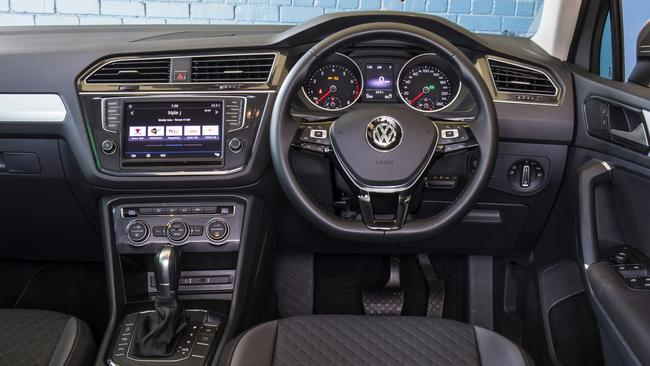 The VW Tiguan interior is roomy, up-market, and user-friendly. Picture: Supplied.