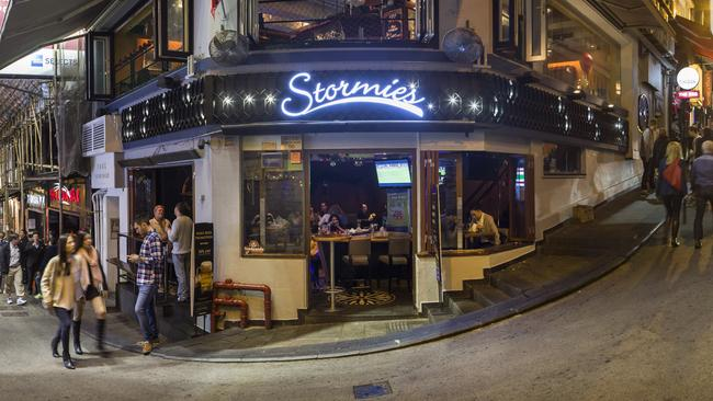 Outside the Stormies bar in Lan Kwai Fong, Hong Kong. Picture: Michael Perini