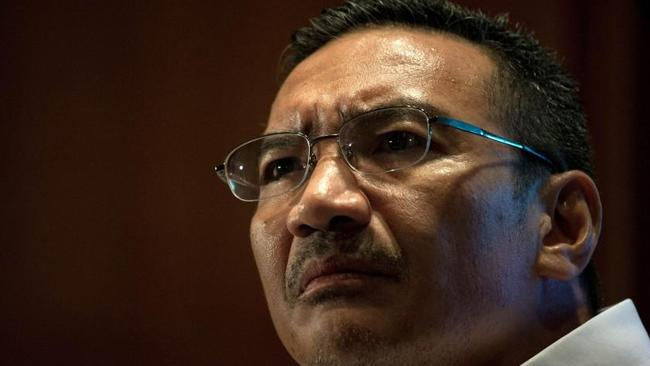 Worknig with Australia ... Malaysia's Minister of Defence and Acting Transport Minister Hishammuddin Hussein listens to questions from journalists. Picture: Mohd Rasfan