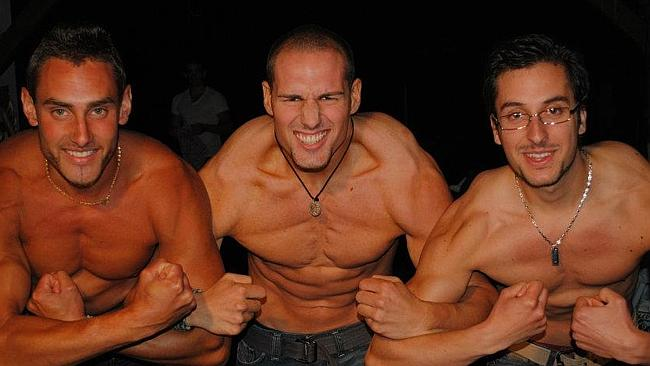 Well liked.... Fabien (centre) with friends. Picture: Facebook