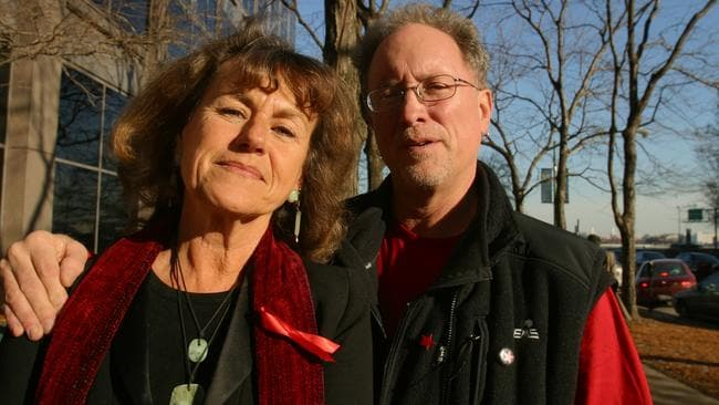 Former Weather Underground radicals, now husband and wife, Bernardine Dohrn and Bill Ayers. Picture: Ralf-Finn Hestoft/Corbis via Getty Images