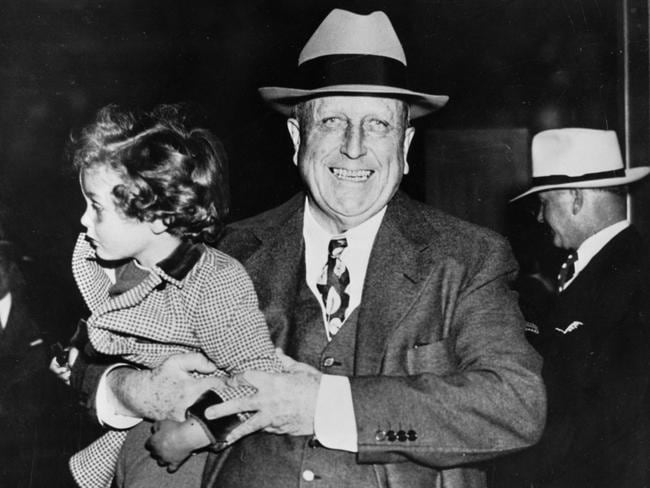 William Randolph Hearst in 1937 with his three-year-old grandson, John Randolph Hearst Jr.