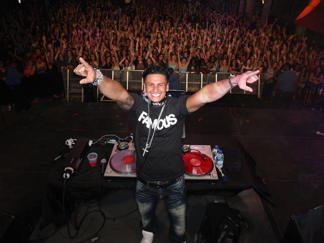 "DJ Pauly D of TV program ""Jersey Shore""."