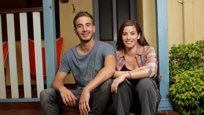 Corr with Brooke Satchwell on the set of Packed To The Rafters