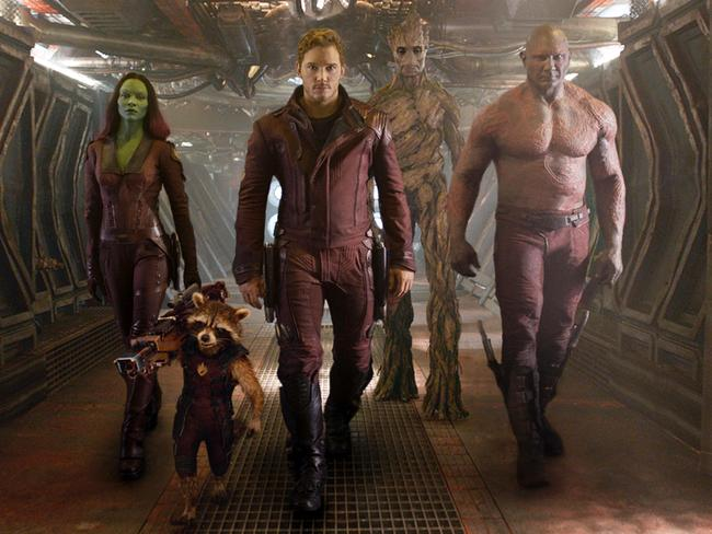Pratt's character attracts an eccentric entourage in a search for the Infinity Stone. Picture: AP