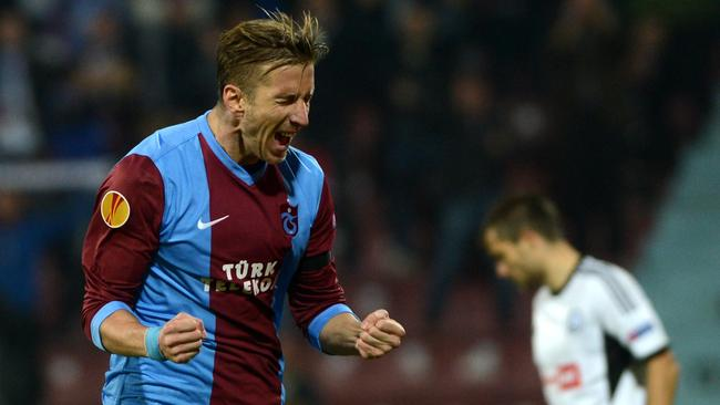 Marc Janko in his Trabzonspor days.