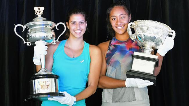Jaimee Fourlis and Destanee Aiava are currently fighting for an Australian Open berth. Picture: Getty Images