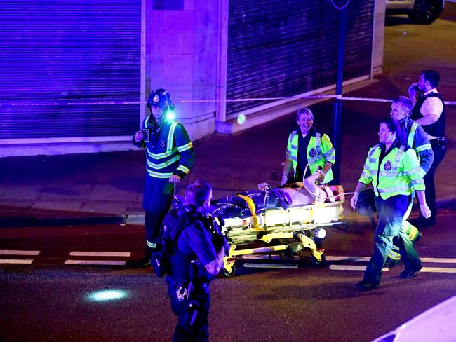 Police and ambulance crews on the scene Traffic incident in Finsbury Park, London. Picture: REX/Shutterstock
