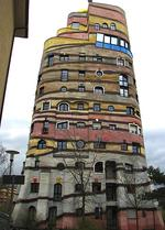 <p>The Hundertwasser building in Austria is a popular tourist attraction / Flickr user Hans S</p>