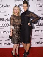 Susie Porter and Rachel Griffiths at the 2014 InStyle and Audi Women of Style Awards, The entertainment Quarter, Sydney. (Pictures Justin Lloyd)