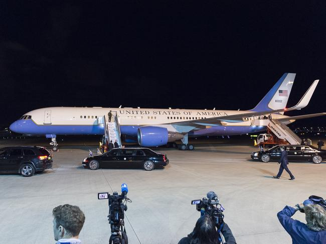 Pence arrived at Sydney International Airport last night as part of a 10-day tour of the Asia-Pacific.