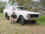 2004 : Doug Walker in front of his 1972 Ford Falcon 4WD ute.