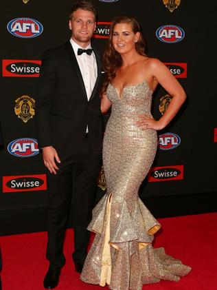 Abby and Jake at the 2015 Brownlow medal. Photo by Scott Barbour/Getty Images
