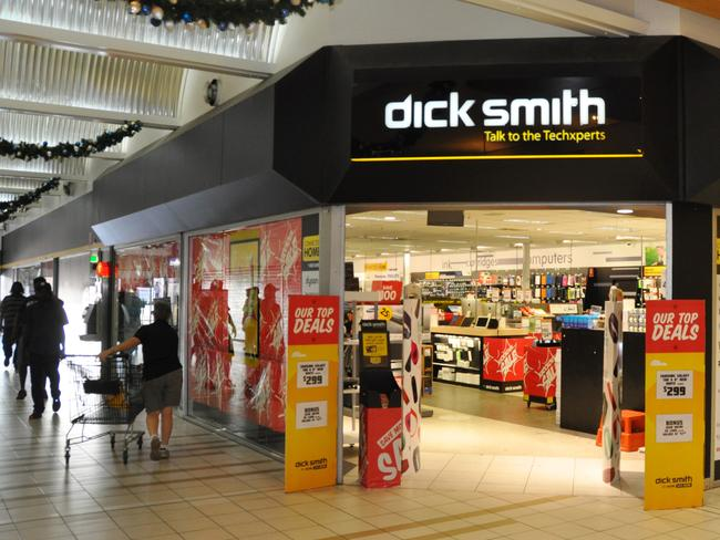 Dick Smith is still trading, but receiver Ferrier Hodgson will not honour gift cards or deposits. Picture: Matt Garrick