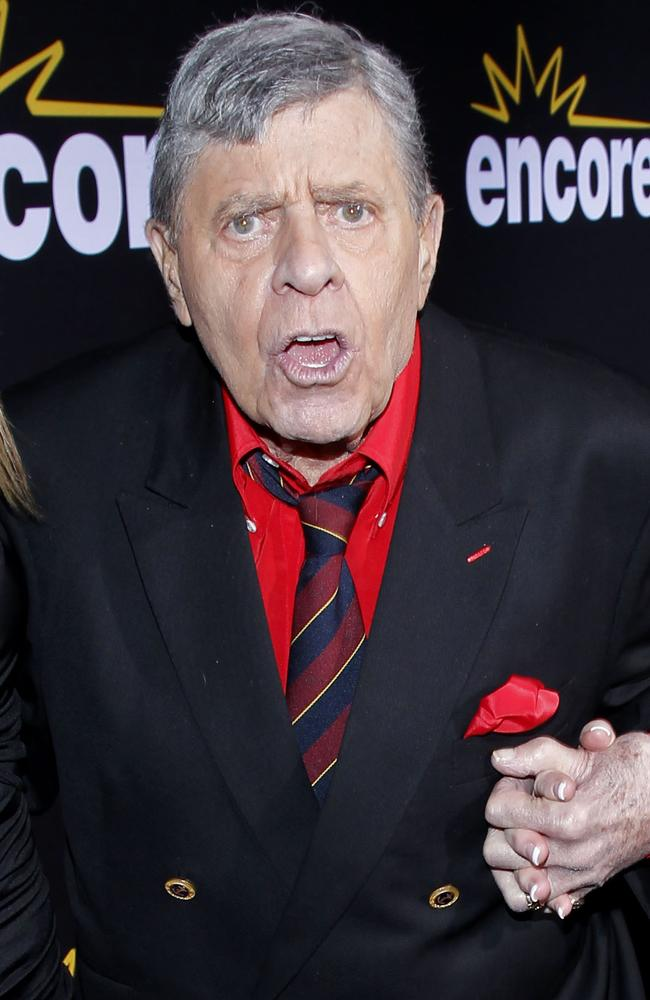 Comedian Jerry Lewis in 2011. Picture: Supplied
