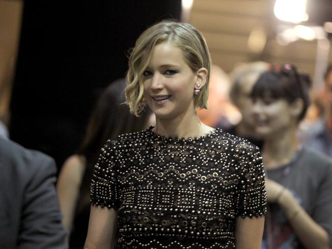 Not happy ... Jennifer Lawrence threatened to sue over her leaked nude photos. Photo by Isaac Brekken/Getty Images