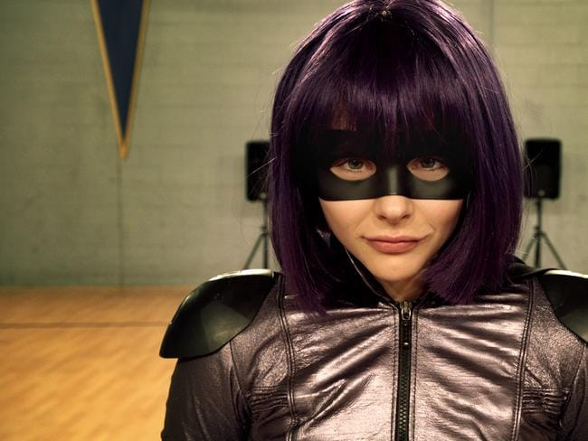 Up and coming actress ... Chloe Moretz in Kick-Ass 2.