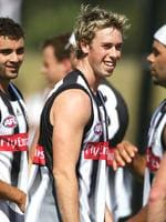Spritely youngster Collingwood footballer Nick Maxwell.