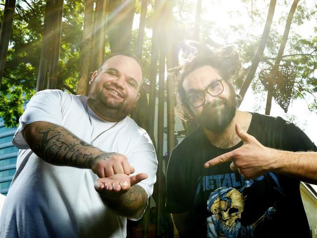 "A.B. Original members Adam Briggs and Daniel ""Trials"" Rankine are favourites to win some trophies at this year's ARIAs. Picture: Justin Kennedy"