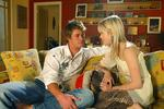 "<p>Actor Chris Hemsworth with Alyssa McCelland in scene from TV program ""Home and Away""</p>"