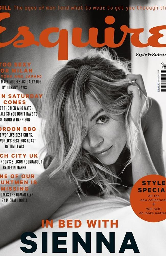 Sienna Miller on the cover of Esquire UK magazine's March 2014 edition. Picture: Esquire
