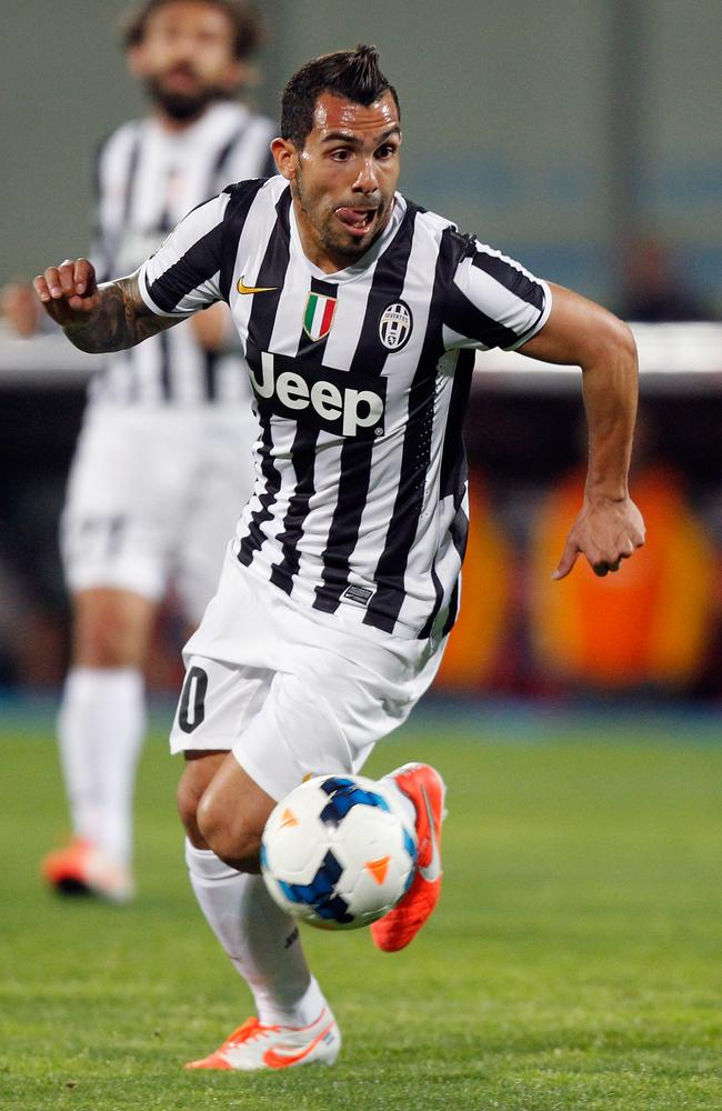 Carlos Tevez's aggression makes him an exciting player for the Old Lady.