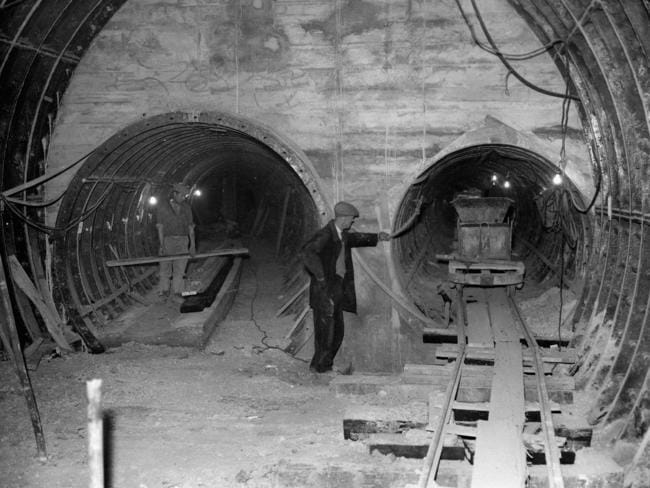 Deep down below the streets of London are the tunnels for the Post Office's underground railways. Picture: PA