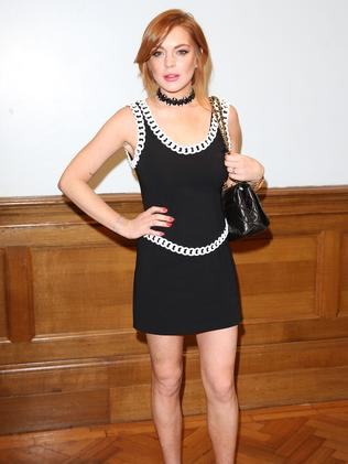 Not happy ... Lindsay Lohan pictured in London last month.