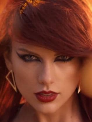 Taylor Swift in the Bad Blood music video.