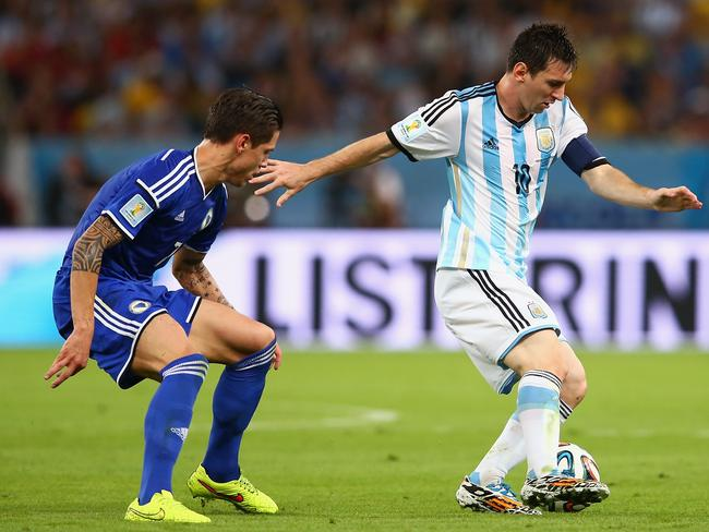 Lionel Messi has scored a brilliant goal against Bosnia-Herzegovina.