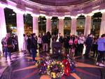 Anzac Dawn service at the Brisbane Shrine of Remembrance. Picture: Peter Wallis