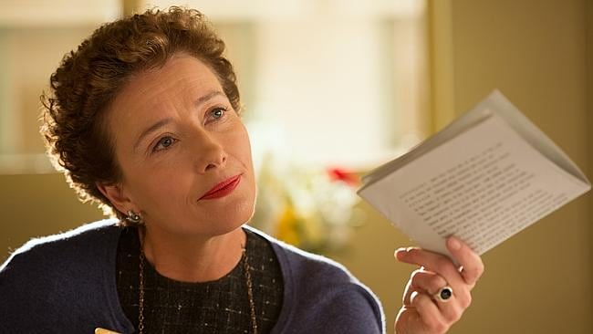 "Emma Thompson as author P.L. Travers in a scene from ""Saving Mr. Banks."""