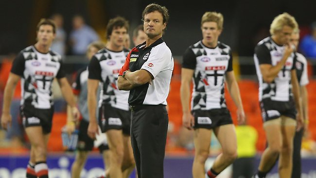 St Kilda coach Scott Watters offers up no excuses for the Saints poor display against Gold Coast. Picture: Getty