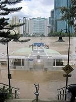<p>Jan 13: The ferry wharf at Kangaroo Point. Reader picture: Jane Pettigrew</p>