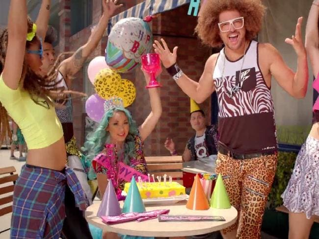 Redfoo in the clip for his new single, New Thang.